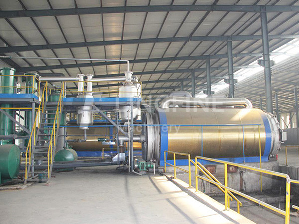 waste used oil recycling plant process re refining lube oil in usa
